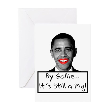 Lipstick on a Pig Greeting Card