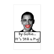 Lipstick on a Pig Rectangle Decal