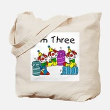 Clowns 3rd Birthday Tote Bag
