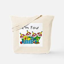 Clowns 4th Birthday Tote Bag