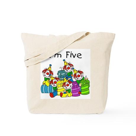 Clowns 5th Birthday Tote Bag