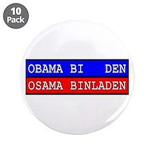 "Obama - Osama 3.5"" Button (10 pack)"