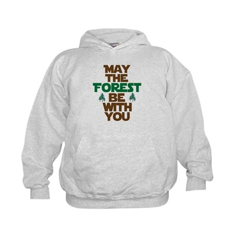 May The Forest Be With You Kids Hoodie