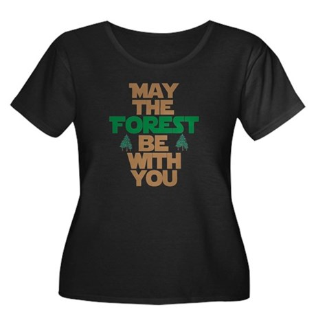 May The Forest Be With You Women's Plus Size Scoop