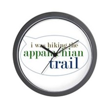 I Was Hiking the Appalacian T Wall Clock