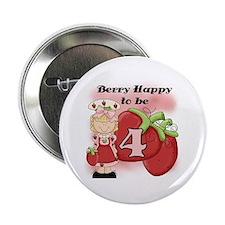 "(Blond) Berry 4th Birthday 2.25"" Button"