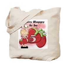 (Blond) Berry 5th Birthday Tote Bag