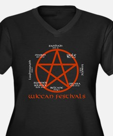 Wiccan festivals Women's Plus Size V-Neck Dark T-S