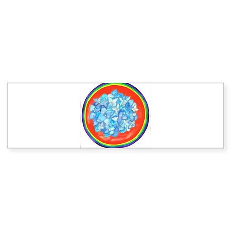 Throat Chakra Flower Mandala Bumper Sticker