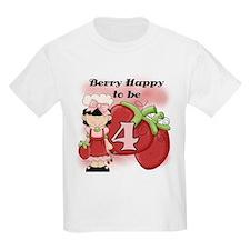 (Black) Berry 4th Birthday T-Shirt