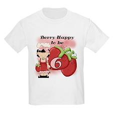 (Black) Berry 6th Birthday T-Shirt