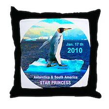 Star Antarctic S. America 1-17-2010 - Throw Pillow