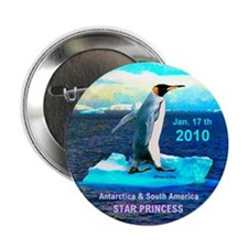 "Star Antarctic S. America 1-17-2010 - 2.25"" Button"