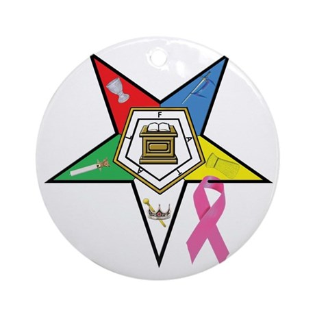Teardrop OES BC Awareness Ornament (Round)