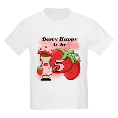 (Brunette) Berry 5th Birthday Kids Light T-Shirt