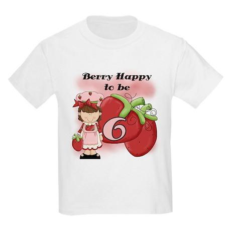 (Brunette) Berry 6th Birthday Kids Light T-Shirt