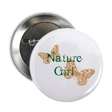 "Nature Girl Butterfly 2.25"" Button"