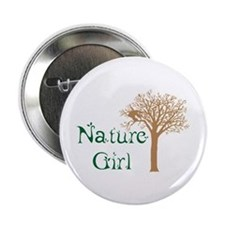 """Nature Girl Butterfly 2.25"""" Button"""