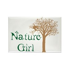 Nature Girl Butterfly Rectangle Magnet
