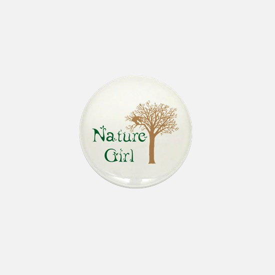 Nature Girl Butterfly Mini Button
