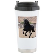 Black Rose Friesians Travel Mug