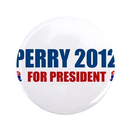 """rick perry for president 2012 3.5"""" Button (100 pac"""