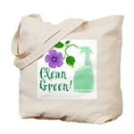 Clean Green Tote Bag
