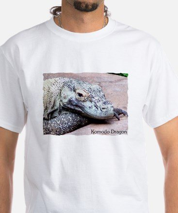 Komodo Dragon White T-Shirt