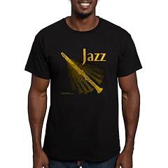 Jazz Clarinet Gold Men's Fitted T-Shirt (dark)