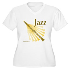 Jazz Clarinet Gold T-Shirt