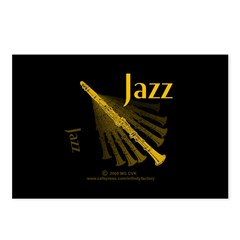 Jazz Clarinet Gold Postcards (Package of 8)