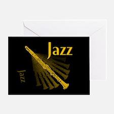 Jazz Clarinet Gold Greeting Card