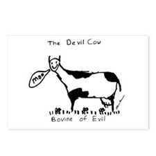 Devil Cow Postcards (Package of 8)