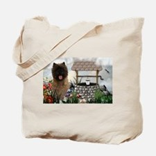 Cairn Terrier Wishing Well Tote Bag