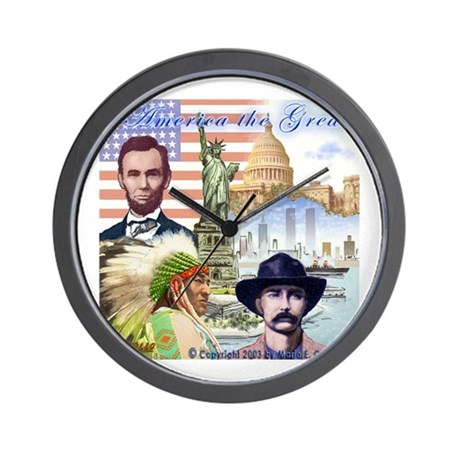 America the Great Wall Clock