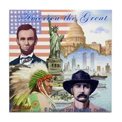 America the Great Tile Coaster