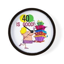 40 is Good Wall Clock