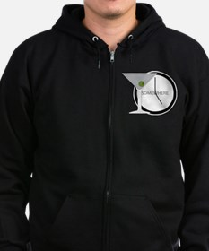 Unique Martini Zip Hoodie (dark)