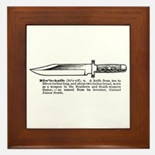 Bowie Knife Framed Tile