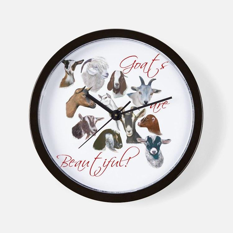 Goats are Beautiful Wall Clock