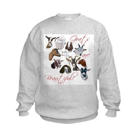 Goats are Beautiful Kids Sweatshirt