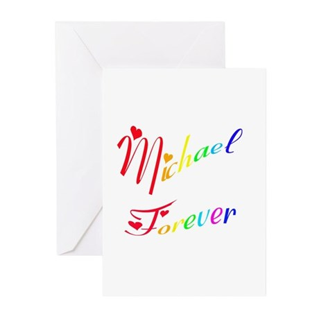 Michael Forever Greeting Cards (Pk of 10)