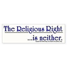 Religious Right is Neither Bumper Bumper Sticker