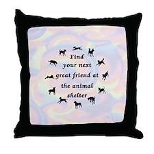 Next Great Friend Throw Pillow