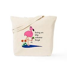 Fanny Flamingo Tote or Beach Bag