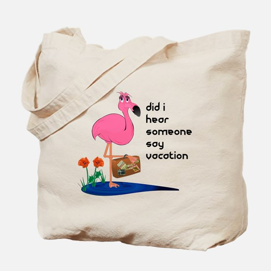 Flamingo Grocery Tote or Beach Bag