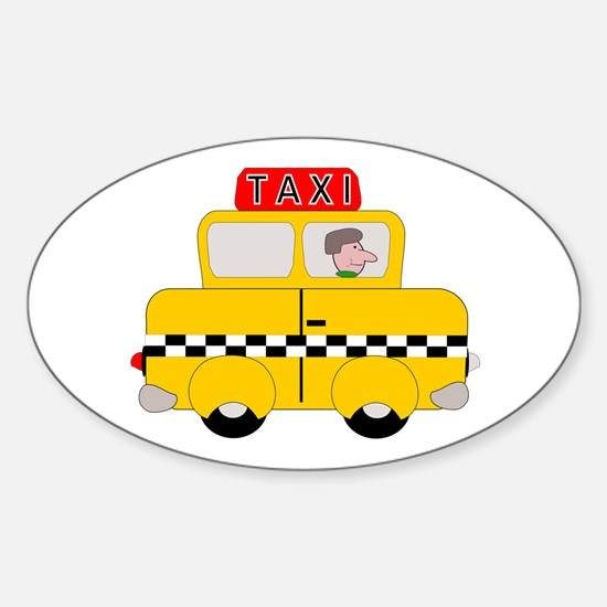 Yellow Taxi Decal
