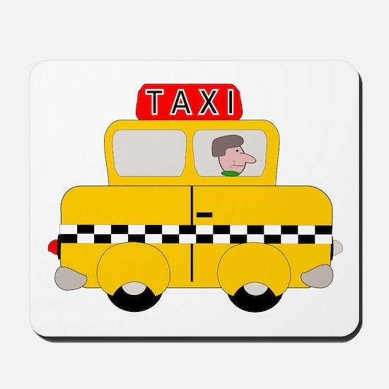 Yellow Taxi Mousepad