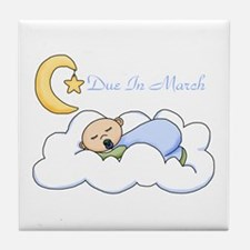 Due In March (Boy) Tile Coaster
