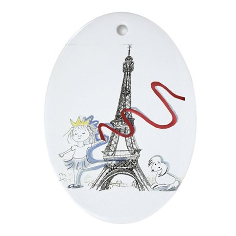 Paris Princess Christmas Tree Ornament